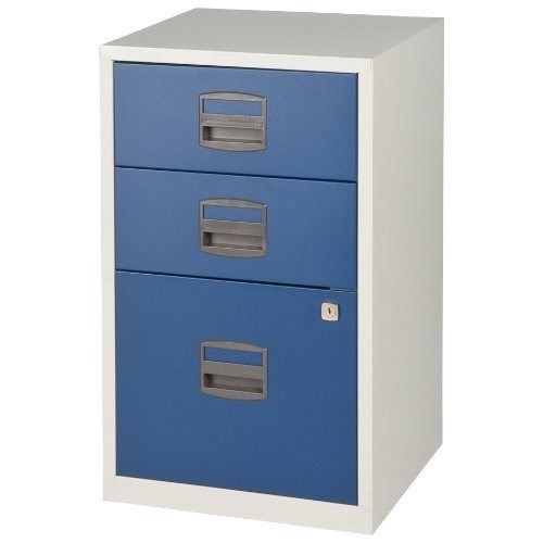 bisley home office a4 metal filing cabinet 2   3 drawer