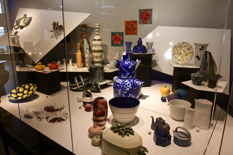 Porcelain at Rörstrand Museum, Lidköping