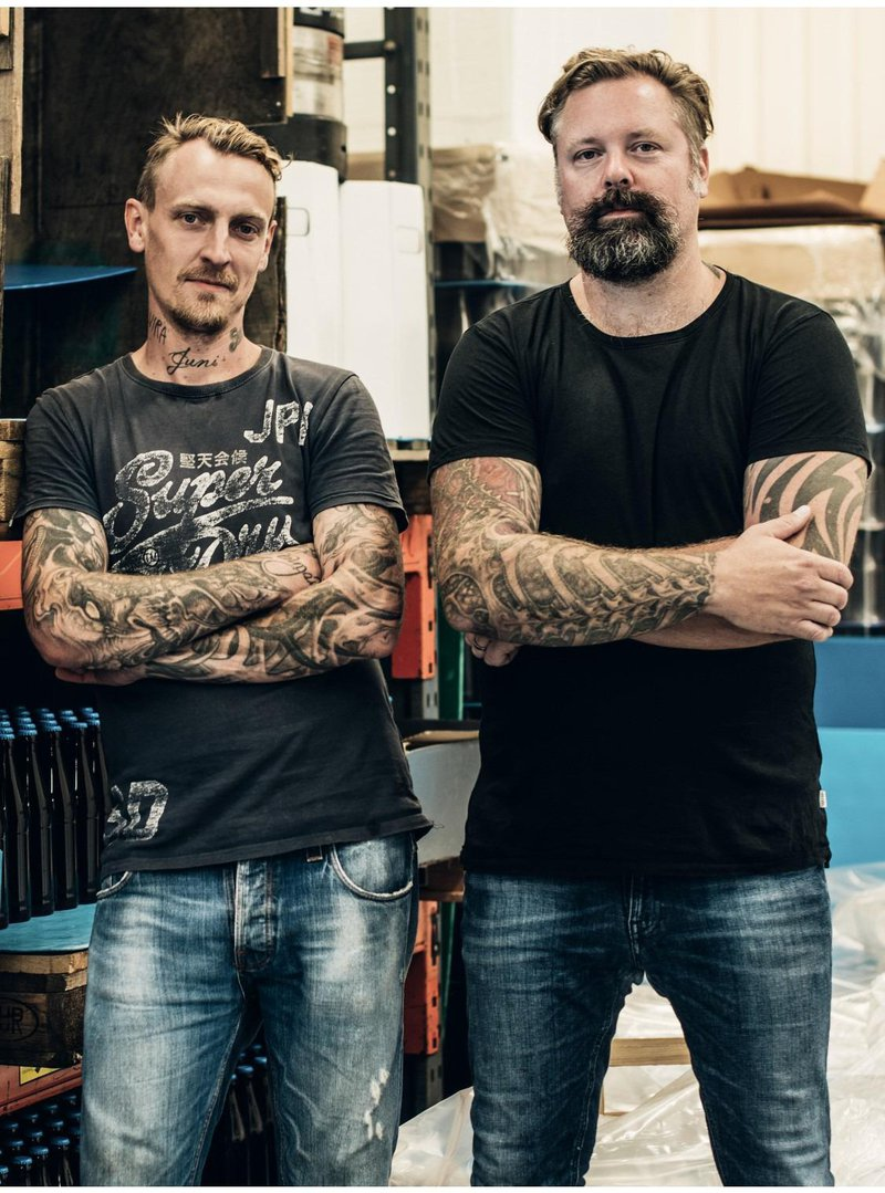The founders of Odd Island brewery, West Sweden