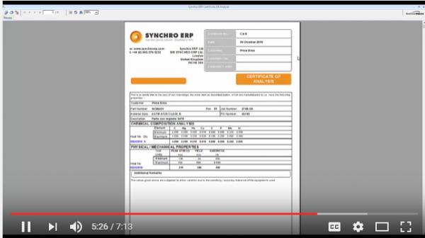 Demonstración de certificacion y documentacion de calidad