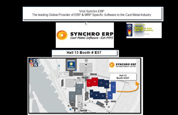 Synchro ERP at GIFA 2019 - Hall 13 Booth#E57