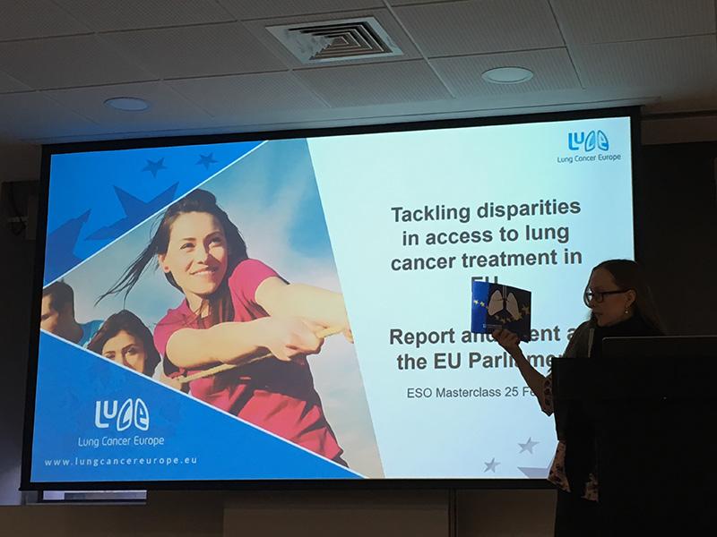 Mirjami Tran Minh esittelemässä LuCEn raporttia ESO:n koulutuksessa