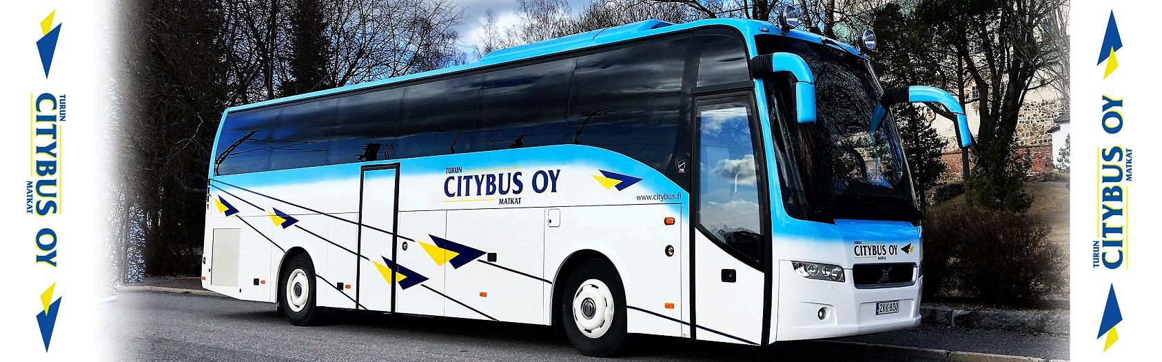 Kuvassa on Turun Citybus Oy:n bussi. Avaa kuva isompana.