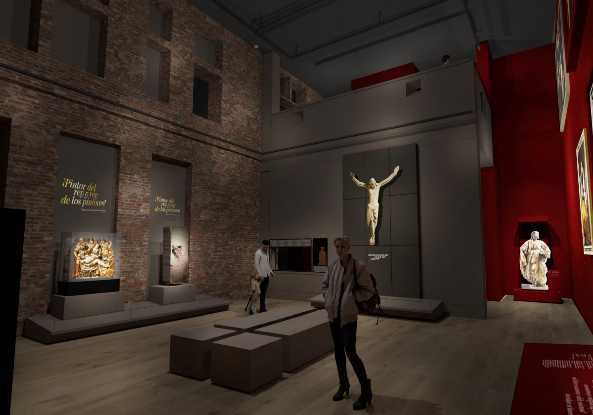 Artist's Impression of the Spanish Gallery at The Auckland Project. Courtesy of Studio MB.