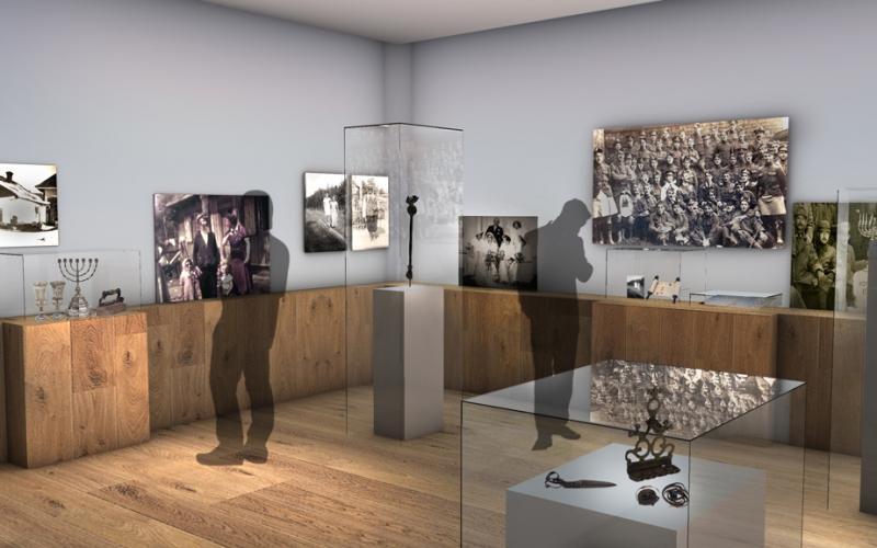 Holocaust Galleries sketch, Casson Mann ©IWM
