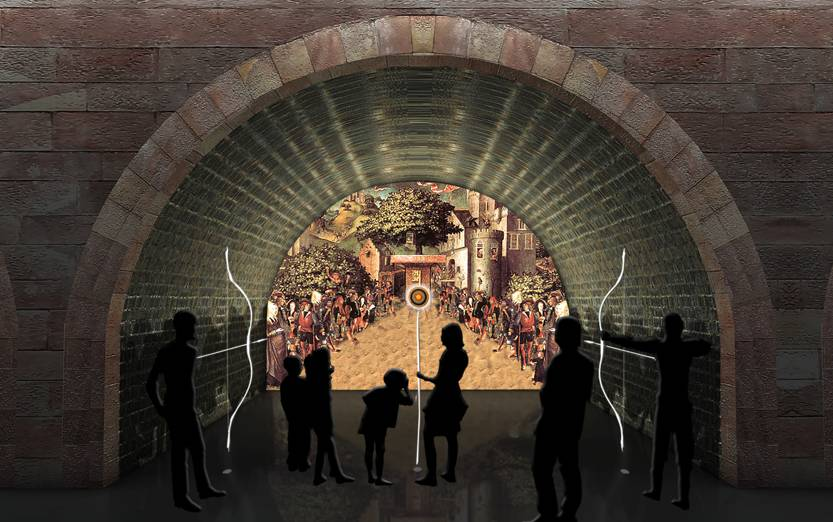 Artist's impressions of the new visitor centre. Images courtesy of Casson Mann. © Nottingham Castle