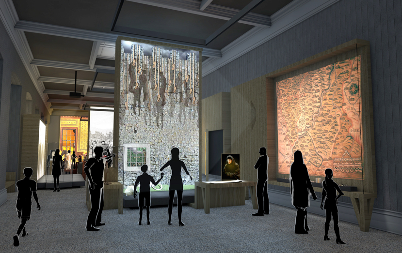 Artist's impressions of the Rebellion Gallery. Images courtesy of Casson Mann. © Nottingham Castle