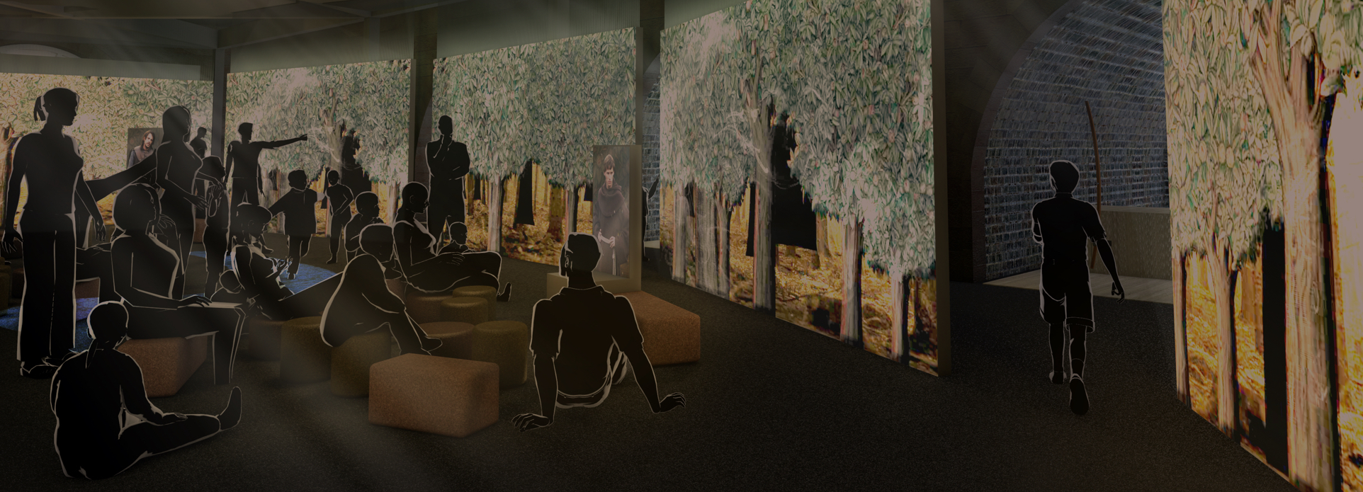 Artist's impressions of the Robin Hood Gallery. Images courtesy of Casson Mann. © Nottingham Castle