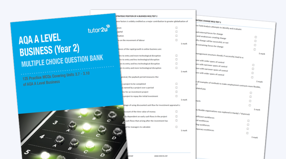 AQA A Level Business (Year 2) MCQ Test Bank… | Business