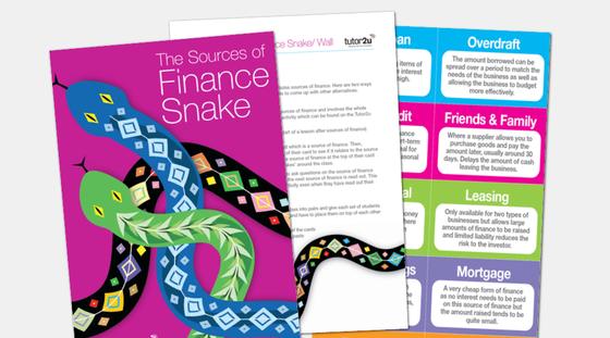 Sources of Finance Snake | Business | tutor2u
