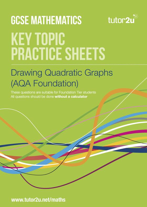 drawing quadratic graphs  aqa foundation  practice