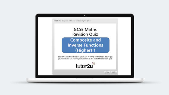 Composite And Inverse Functions Revision Quiz Maths