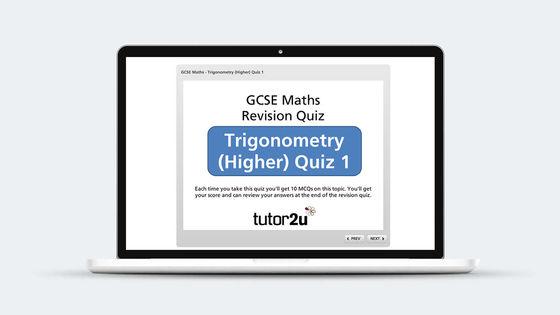 Trigonometry Revision Quiz Tutor2u Maths