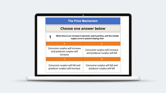 Price Mechanism Revision Quiz   Economics   tutor2u