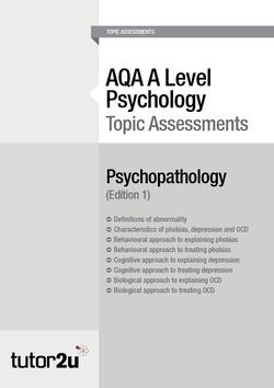 Clinical Characteristics: OCD | Topics | Psychology | tutor2u