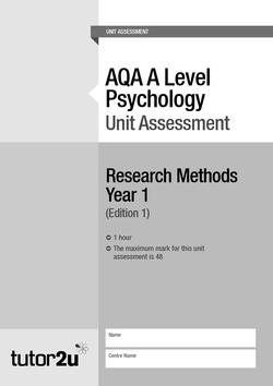 Non-Directional Hypothesis | Topics | Psychology | tutor2u