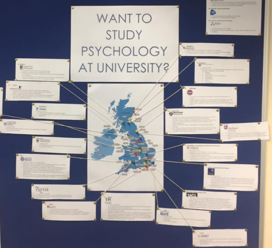 the top 20 psychology degrees wall display