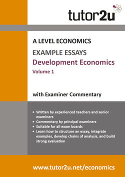Practice Essays For A Level Economics  Tutoru Economics Development Economics Example Essays Volume  For A Level Economics