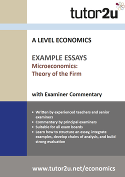 Example Top Grade Essays For A Level Economics  Tutoru Economics Theory Of The Firm Example Essays Volume  For A Level Economics