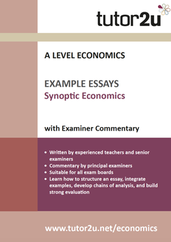 Example Top Grade Essays For A Level Economics  Tutoru Economics Synoptic Example Essays Volume  For A Level Economics