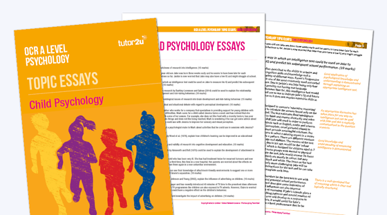 child psychology ocr a level psychology topic psychology