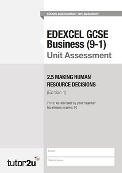 GCSE (9-1) Business Teaching Resources | Business | tutor2u