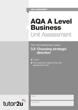 tutor2u evaluation business plan