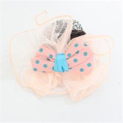 Osanni Peach-Blue  Lace Ladies Fashion Hair Clip