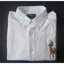 White Cotton Kid L/Sleeve Shirt Sz S