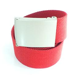 Red Denim Mens Belt