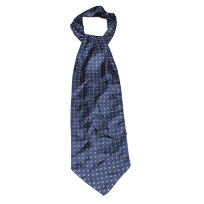Navy Ascot wt Dotted Print Design