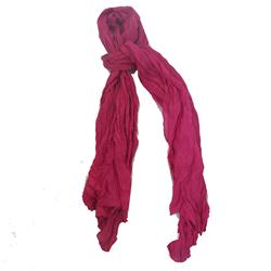 Purple Ladies Long Cotton Scarfs