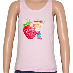 Berry Cool Pink Cotton Print Design Girls Tank Top Age 2-3Yrs