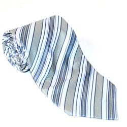 Gray-Lilac Pattern Striped MenTie