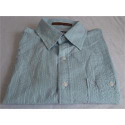 Light Blue Men's Short Sleeve Casual Shirt M