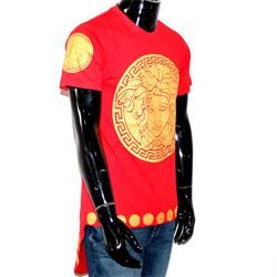 Red And Gold Versace Shirt