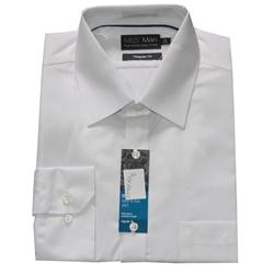 M&S White Cotton L Sleeve Regular Fit Men's Shirt 18