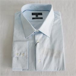 Light Blue Floral Pattern Men's L Office Shirt Sz 16