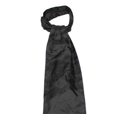 Plain Black Ascot