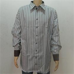 Blue White Brown Stripe Men's L Shirt Sz 9XL