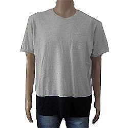 Limited Gray Men's T Shirt wt Navy Mix Design & Front Pocket Sz XL