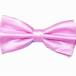 Pink-White Pattern Mens Bow Tie