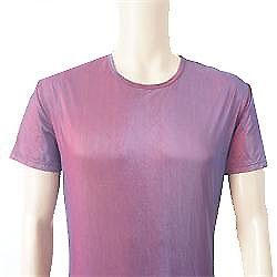 Purple Men Body Hug T-Shirt Sz L