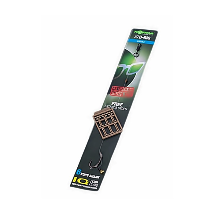 Barbed or Barbless Korda Ready Tied IQ D-Rig All Sizes