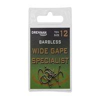 Drennan Barbless Wide Gape Specialist Hooks Size 10