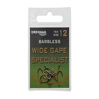 Drennan Barbless Wide Gape Specialist Hooks Size 16