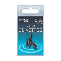 Drennan Inline Olivettes - 0.3g
