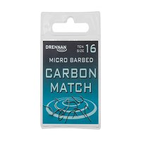 Drennan Micro Barbed Carbon Match Hooks Size 16