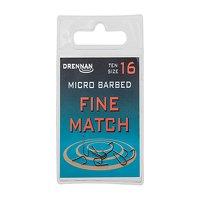 Drennan Micro Barbed Fine Match Hooks Size 16