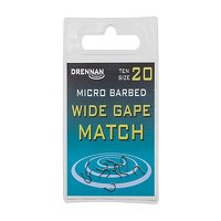 Drennan Micro Barbed Wide Gape Match Hooks Size 18